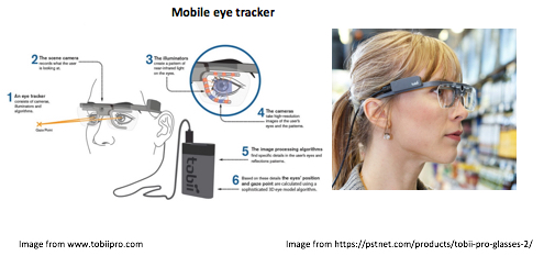Mobile eye tracker diagram